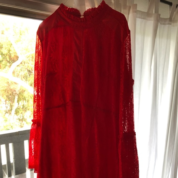 ASOS Curve Dresses & Skirts - Red lace dress- never worn